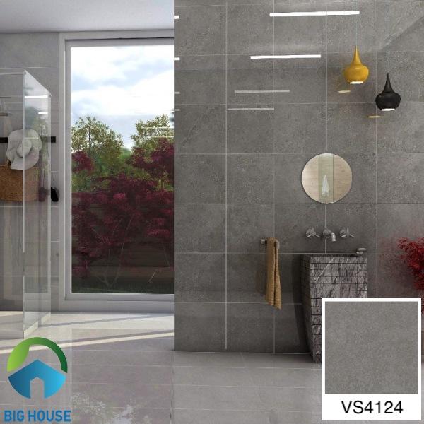 Gạch ốp nhà tắm màu xám Mikado vân đá VS4124