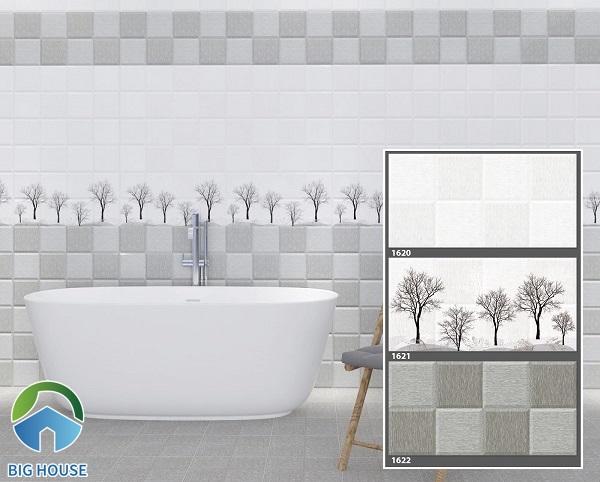 Gạch ốp nhà vệ sinh màu ghi hoạ tiết 1620 - 1621 - 1622 của TASA