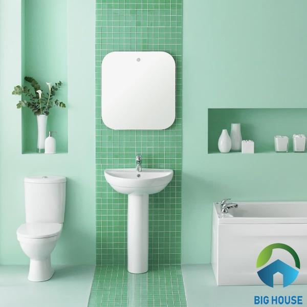 Gạch ốp nhà tắm màu xanh MST48B64