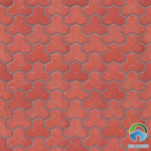 Map gạch đỏ hình khối lục giác