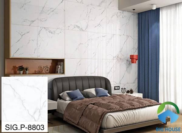 Gạch vân đá ốp phòng ngủ Viglacera - SIG.P-8803 gam màu trắng sang trọng