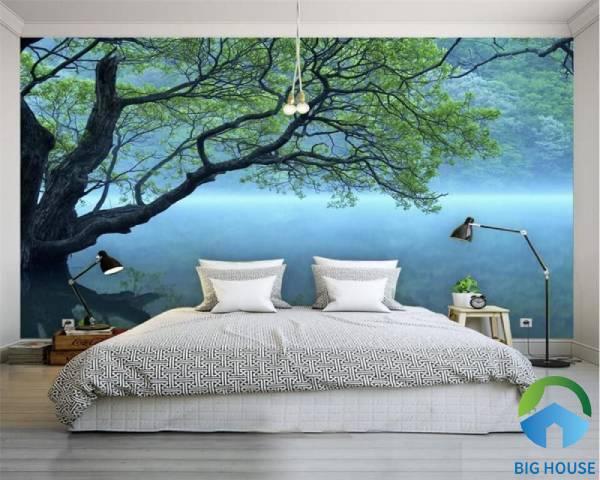 Gạch 3d ốp phòng ngủ chủ đề phong cảnh nên thơ, lãng mạn