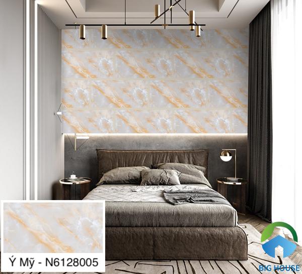 Mẫu gạch ốp tường vân đá Ý Mỹ N6128005