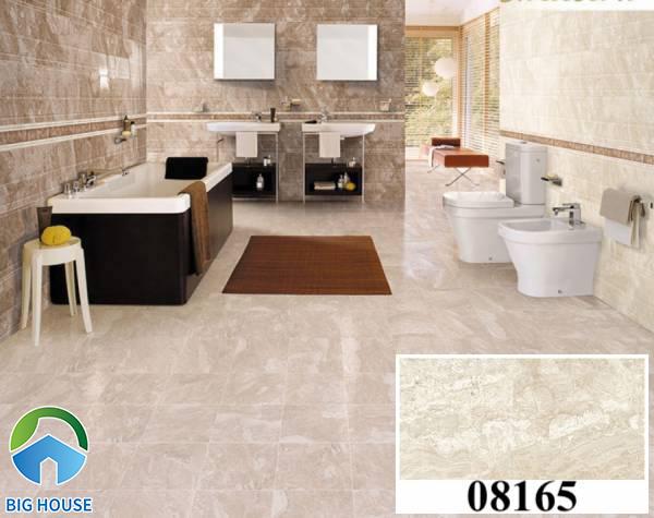 Gạch ốp tường vân đá Prime 08165 cho không gian phòng tắm thêm sang trọng, hiện đại