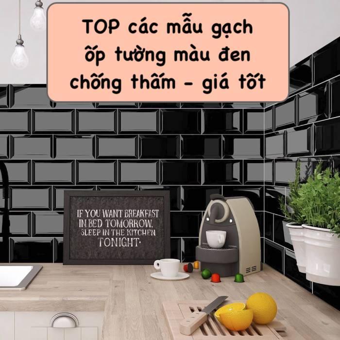 Gạch ốp tường màu đen: Top Mẫu Gạch Đẹp & Báo giá mới 2021