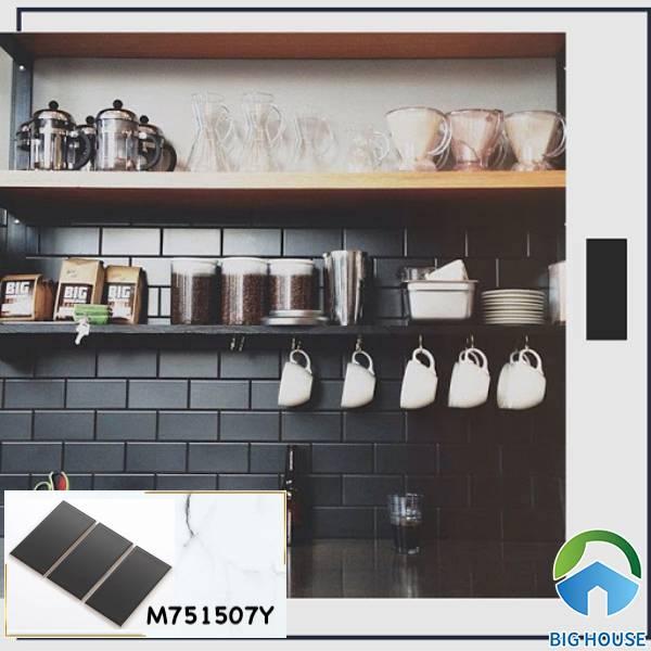 Mẫu gạch thẻ M751507Y cho không gian tường bếp thêm nổi bật