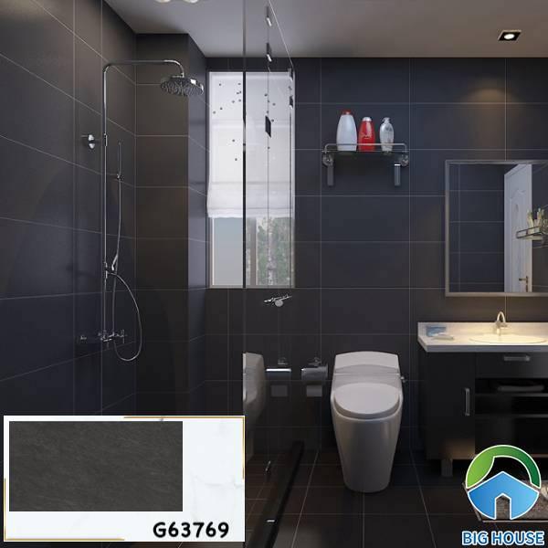 Gạch ốp tường màu đen xám Taicera G63769 cho không gian phòng tắm