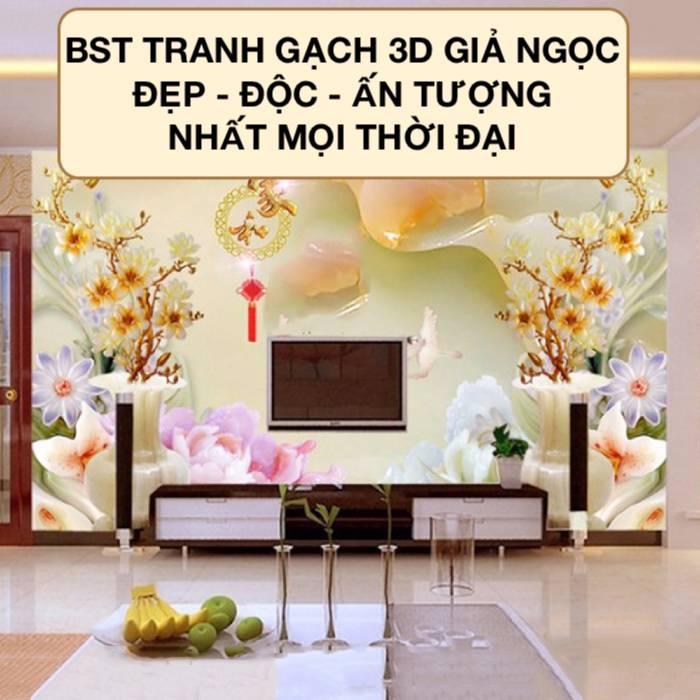 25+ Mẫu Tranh Gạch 3D Giả Ngọc Đẹp Sang Trọng nhất 2021
