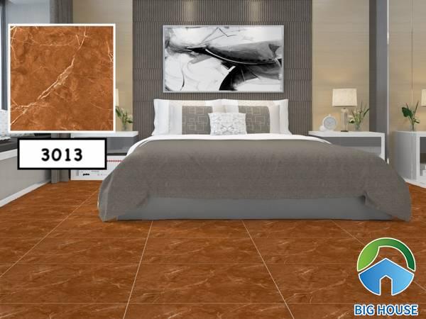 Mẫu gạch lát nền cho người mệnh Hỏa vân đá màu nâu Vitto 3013 cho phòng ngủ