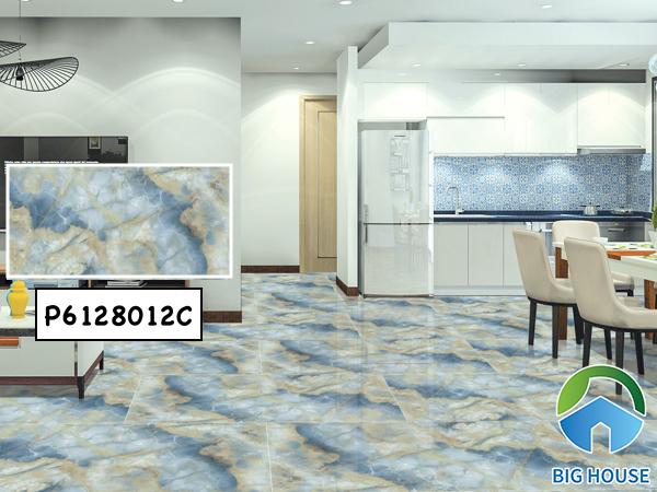 Mẫu gạch lát nền Ý Mỹ 60x120 P6128012C họa tiết vân đá marble