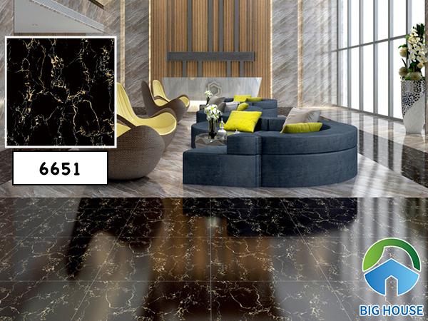 Mẫu gạch vân đá màu đen Catalan mã 6651 sang trọng