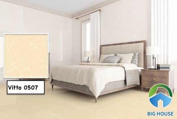 Mẫu gạch lát nền cho người mệnh Thổ của Vitto 0507 cho không gian phòng ngủ