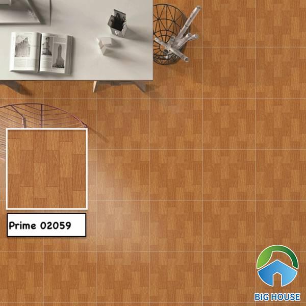 Mẫu gạch vân gỗ Prime - 02059 gam màu nâu đậm nổi bật