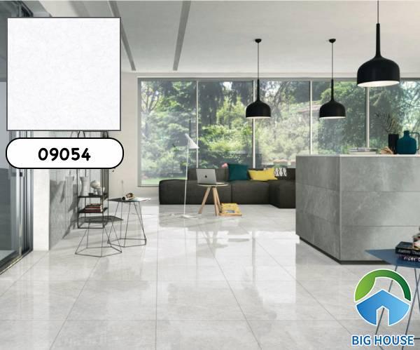 Mẫu gạch Prime 09054 gam màu trắng sáng họa tiết vân đá sang trọng