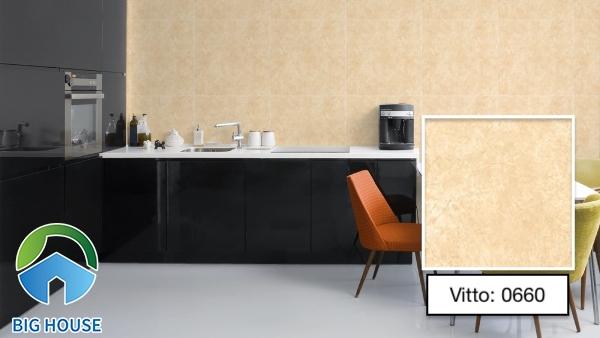 Mẫu gạch ốp tường Vitto 0660 gam màu vàng ấm cúng