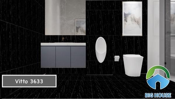Mẫu gạch 3633 đến từ Vitto ốp tường và cả lát nền nhà tắm