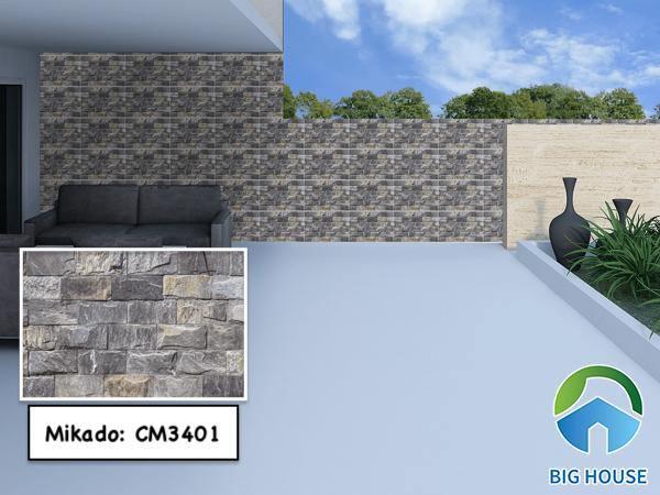 Gạch ốp tường giả cổ CM3401 họa tiết vân nổi độc đáo và mới lạ