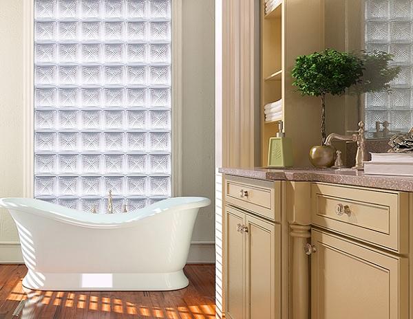 gạch kiếng lấy sáng phòng tắm